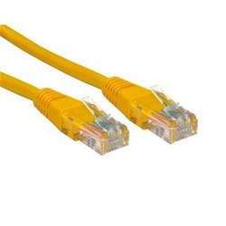 0-5 METRE TRIAX CAT 6 PATCH YELLOW LEAD